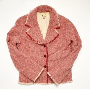Anthropologie Elevenses Wool Jacket Size 8